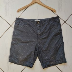 Calvin Klein 💙 Gray Chino Flat Shorts Diamond